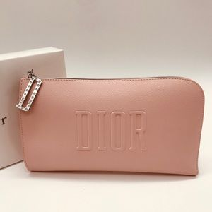 DIOR Pink Cosmetic Makeup Bag Pouch Clutch